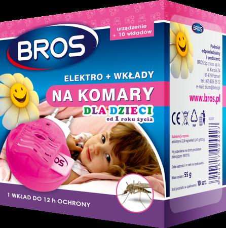 Bros Elektro.+wkłady A'10 na komary dla dzieci