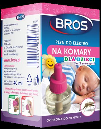 Bros Plyn do Elektro. na komary, dla dzieci 60 nocy