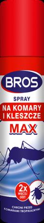 Bros Spray na komary i kleszcze Max 90ml
