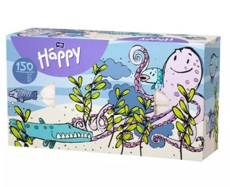 Chusteczki Bella uniwersalne Happy ośmiorniczka 150 szt
