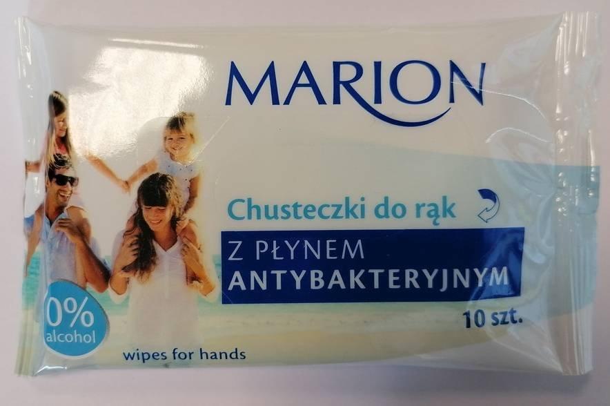 Chusteczki antybakteryjne do rąk Marion 10 szt