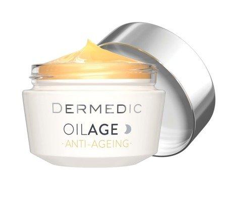 Dermedic Oilage naprawczy krem na noc przywracający gęstość skóry 50g