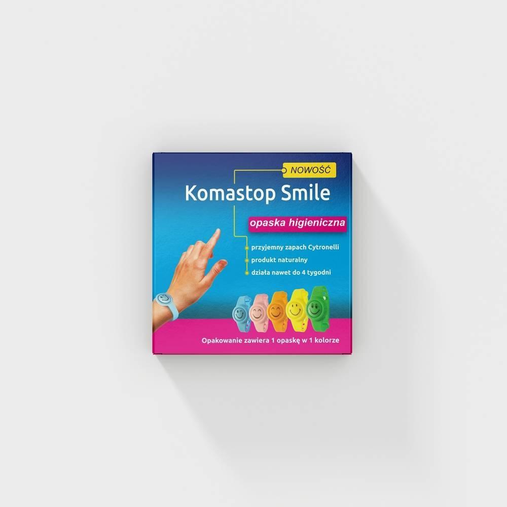 Intec opaska higieniczna Komastop Smile różowa