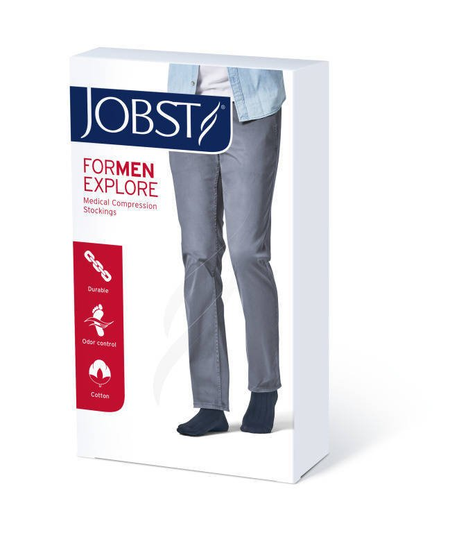 Jobst For Men Explore podkolanówki zamknięte palce ccl1 czarny 4