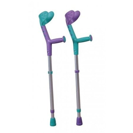 Kula Inwalidzka łokciowa dla dzieci turkus-fiolet