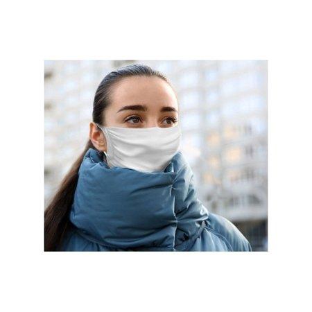 Maseczka ochronna na twarz z jonami srebra wielokrotnego użytku biała