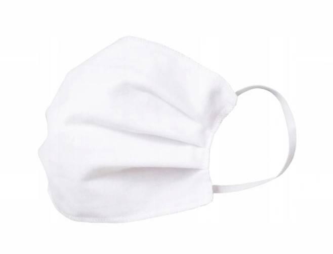 Maseczka wielokrotnego użytku bawełniana biała 20 szt