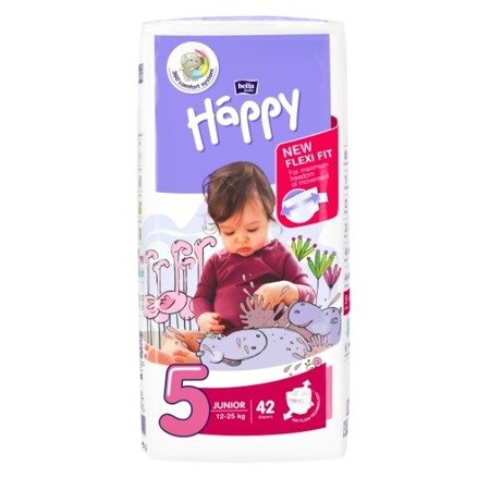 Pieluszki dla dzieci Happy Junior 42 SZT