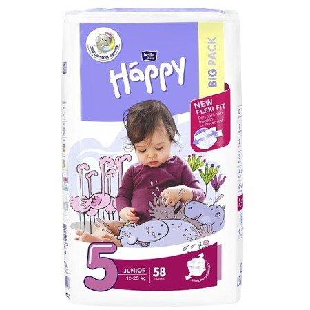 Pieluszki dla dzieci Happy Junior 58 SZT
