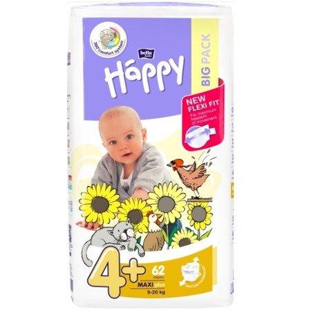 Pieluszki dla dzieci Happy Maxi Plus 62 SZT