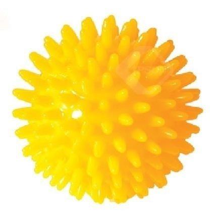 Piłeczka Rehabilitacyjna z kolcami 8cm żółta
