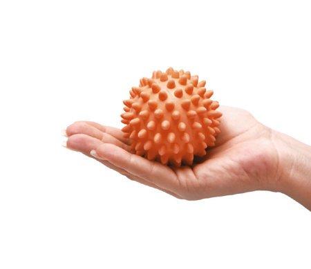 Piłeczka rehabilitacyjna z kolcami 5cm pomarańczowa