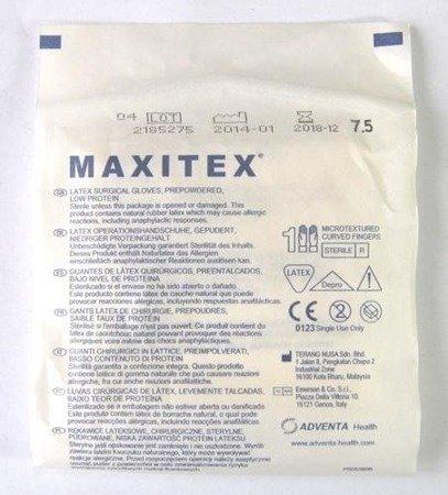 Rękawice Chirurgicz. Sterylne pudrowane Maxitex7,0