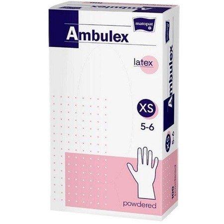 Rękawice niejałowe Ambulex lateksowe pudrowane