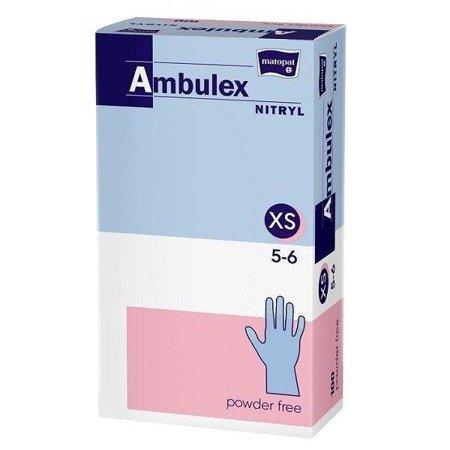 Rękawice niejałowe Ambulex nitrylowe niepudrowane