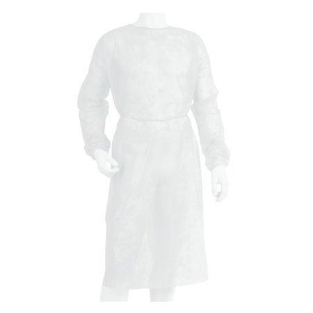 Sanipur fartuch ochronny włókninowy niejałowy biały