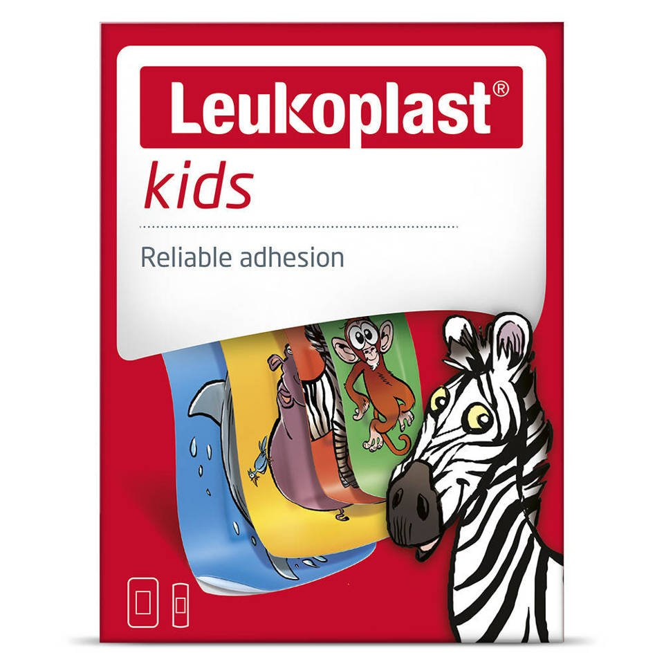 Leukoplast plaster kids 19x56mm,38x63mm mix 12 szt