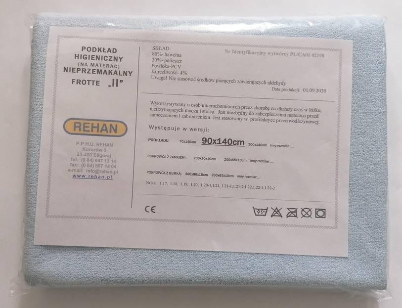 Podkład do ochrony materaca, Frott/PCV 90x140cm