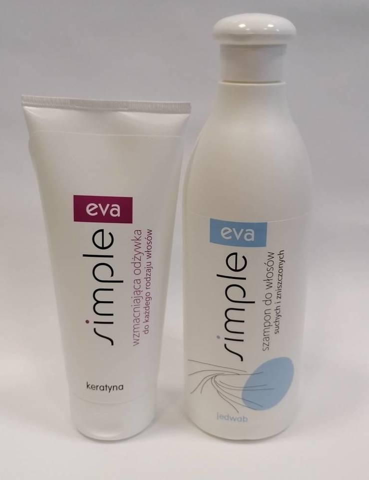 Simple szampon do włosów suchych z jedwabiem 500 ml i odżywka do włosów z keratyną 200 ml zestaw