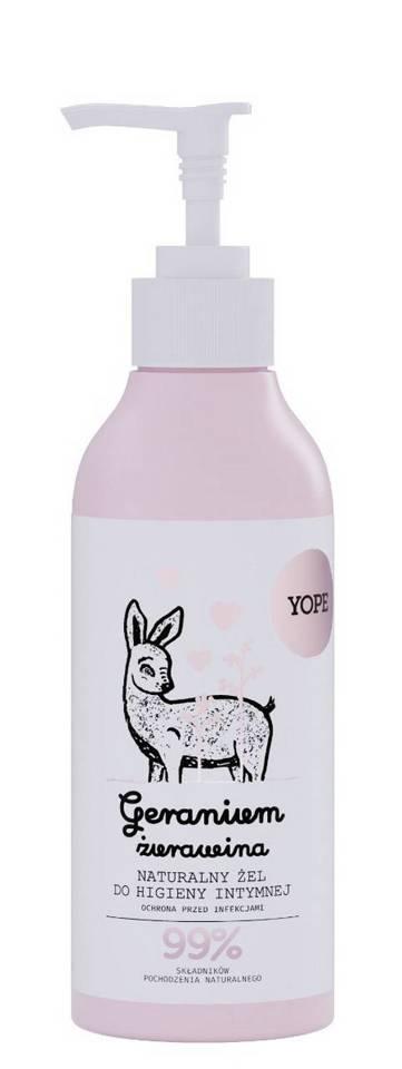 YOPE płyn do higieny intymnej geranium i żurawina 300 ml