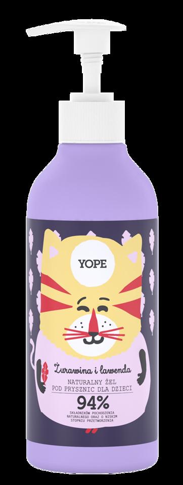 YOPE żel pod prysznic dla dzieci żurawina i lawenda 400ml
